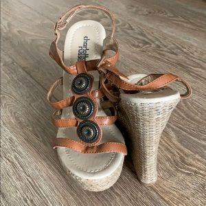 Wedge platform sandal